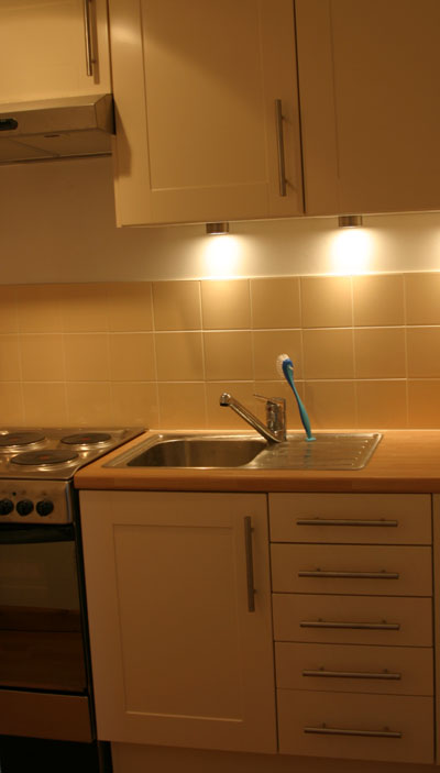Kitchen sink for Maidenhead self catering apartment for short term let. Rooms to let in Maidenhead